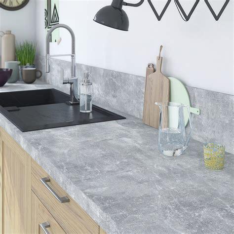 paillasse cuisine plan de travail stratifié gris mat l 315 x p 65 cm ep 38 mm leroy merlin