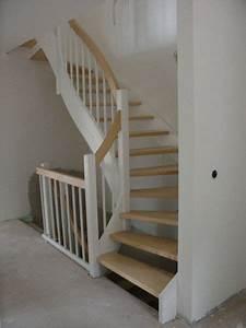Treppe Handlauf Holz : offene wangentreppe holz wei halbgewendelt echiger handlauf treppe in 2019 stairs ~ Watch28wear.com Haus und Dekorationen