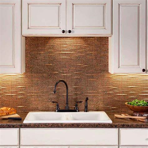 copper backsplash tiles for kitchen traditional kitchen decor with stylish fasade copper tile