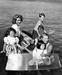 Ingrid Bergman and her children (Isotta, Pia, Robertino ...