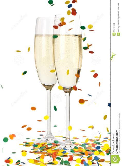 champagne  confetti stock photo image  fizz holiday