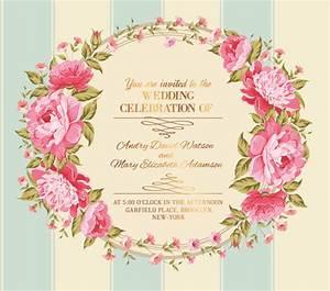 free vectors down pink flower frame wedding invitation With wedding invitation cards photo frame