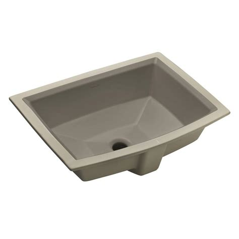 kohler archer undermount sink pegasus rosa 570 undermount bathroom sink in bisque 4