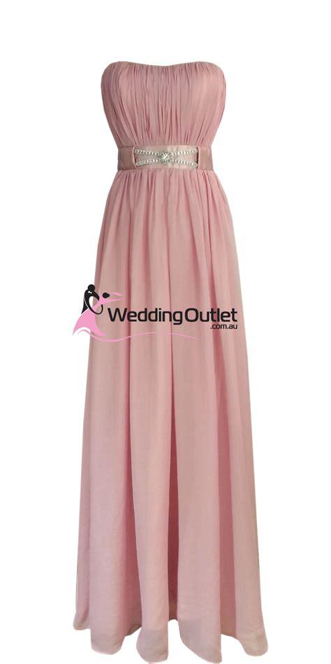 Dusty Pink Strapless Bridesmaid Dresses Style #V101 - Weddingfactoryoutlet.co.uk | Wedding ...