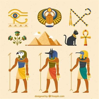 Egyptian Symbols Gods Vector Flat Egypt Freepik