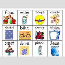 """needs Versus Wants"" Worksheets & Object Lesson For Children Ministrytochildren"