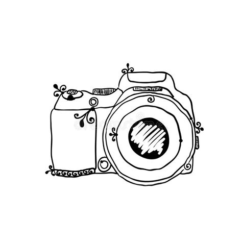 Kleurplaat Fotocamera by The Sketch Of A Photo By Stock Vector