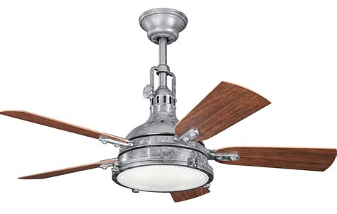 outdoor metal ceiling fans kichler 310101gst galvanized steel 44 quot outdoor ceiling fan