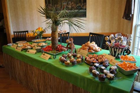 safari themed baby shower food table kids party pinterest
