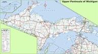 Map of Upper Peninsula of Michigan