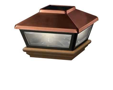 solar lights for decks post cap solar post cap deckorators
