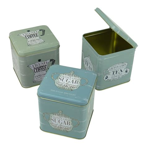 shabby chic tea coffee sugar canisters set of 3 coffee tea sugar hinged lid canisters retro kitchen storage shabby chic ebay