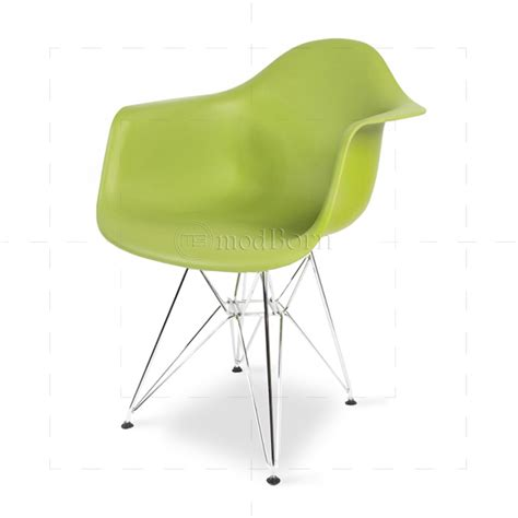 eames style dining dar arm chair green