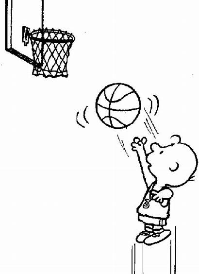 Basketball Clipart Sports Charlie Snoopy Shooting Clip