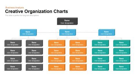creative organization chart template  powerpoint
