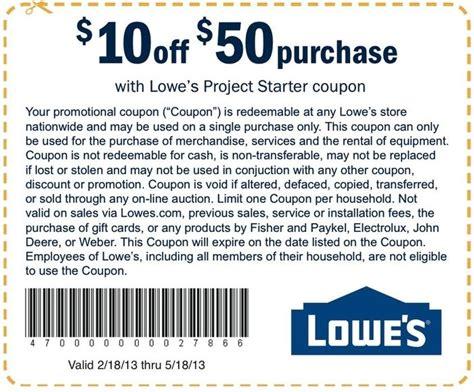 lowes printable coupon   orders   printable