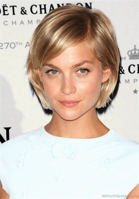 cool short bob hairstyle  side swept bands