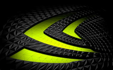 descargar fondos de pantalla nvidia el verde neon emblema