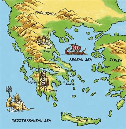 Greece Ancient Map Thinglink Geography Location Greek