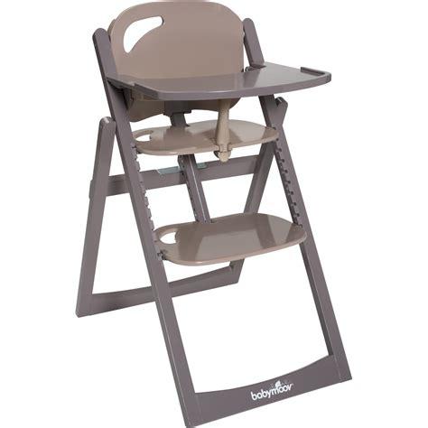 la chaise haute design pas cher light wood taupe fusain de
