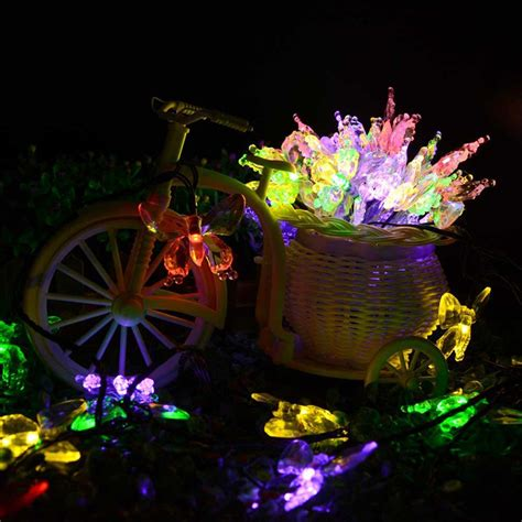 wholesale butterfly solar powered led string lights