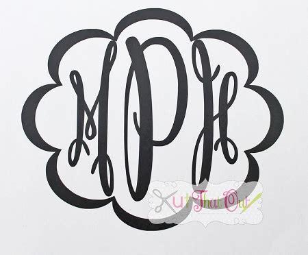 fancy oval monogram svg dxf font cut file kutthatoutcom
