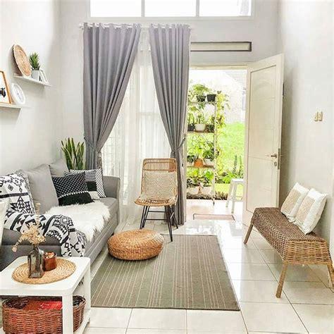 dekorasi ruang tamu sempit memanjang sederhana