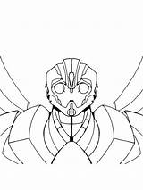 Coloring Bumblebee Pages Printable Boys Face Template Bee Bumble Transformer Transformers Sheet Templates Movie Mycoloring Recommended sketch template