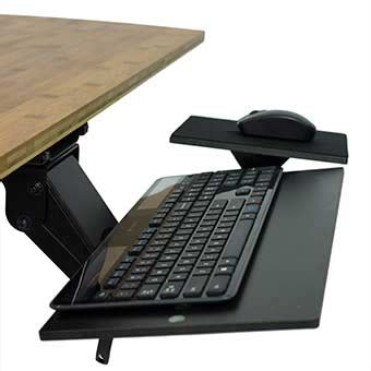 under desk computer tray kt1 sit stand keyboard tray ergonomic standing desk