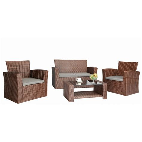 wicker settee set wicker patio cushions clearance replacement for set
