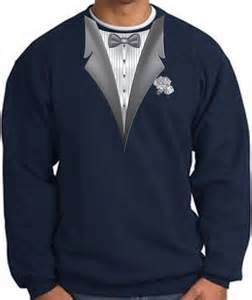 White Tuxedo with Navy Blue Shirt