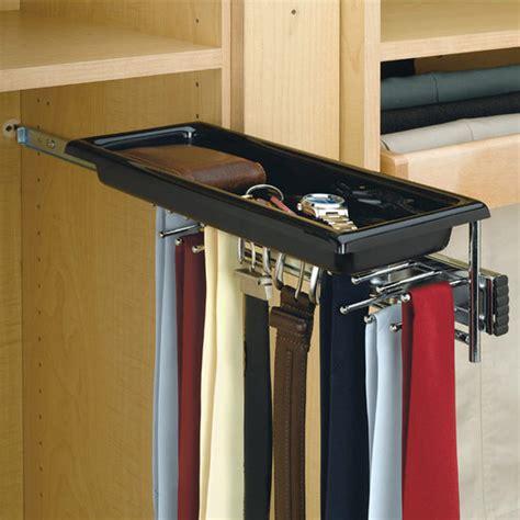Revashelf Chrome Telescopic Tie And Belt Rack With