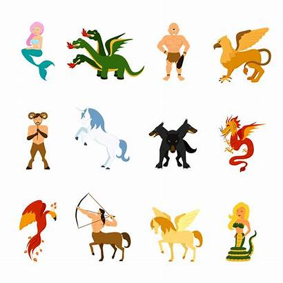 Mythical Creatures Creature Cartoon Clipart Vector Monsters