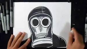Cómo dibujar una Mascara de Gas YouTube