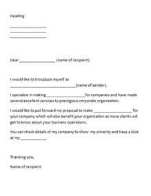 Letter Of Introduction by 40 Letter Of Introduction Templates Exles