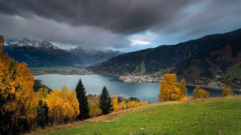 Österreich Landschaft, Berge, See, Herbst 1920x1200 Hd