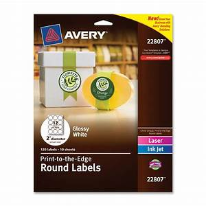 avery 2quot round white labels easy peel print to the edge With easiest way to print labels