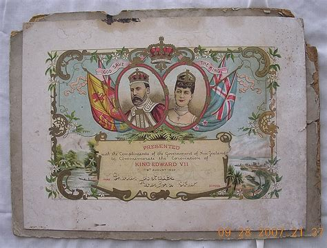 king edward v11 chair king edward v11 coronation certificate 1902 from molotov