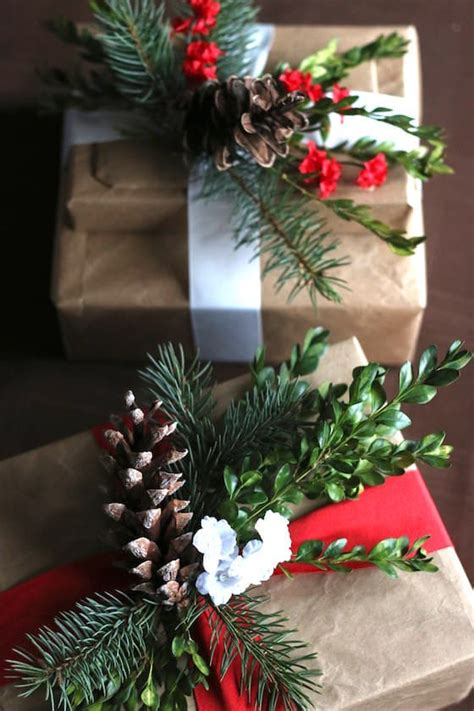 gorgeous inexpensive brown paper gift wrap idea happy