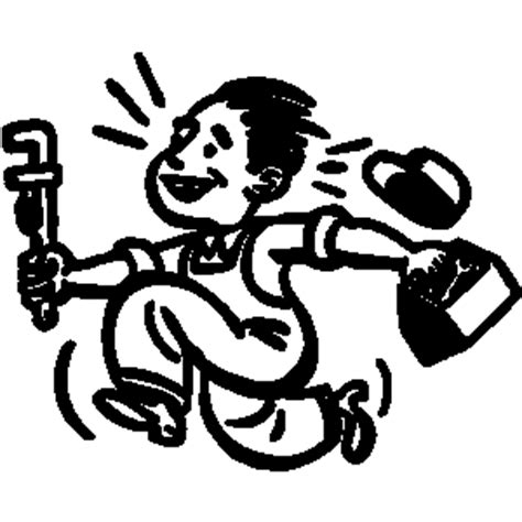 14785 plumber clipart black and white tools clipart lineart line t shirt t shrits