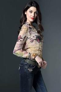 4 Designer Com Luxury Designer New High Fashion Silk Shirt 2016 Spring