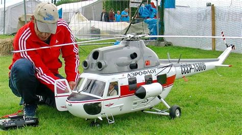 Mil Mi-2 Giant Rc Scale Electric Model Helicopter Flight