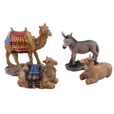 real life nativity set animals 7 quot scale the catholic