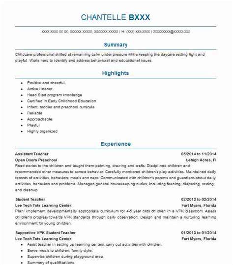 assistant teacher objectives resume objective livecareer