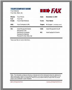 fax cover sheet template word 2007