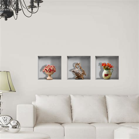 vase flower  riding lattice wall decals pag removable