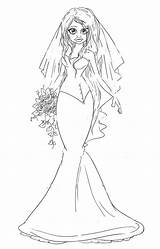 Coloring Pages Bride Cannery Saturated Stamps Uploaded User sketch template