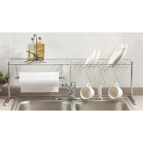 over the sink shelf organizer chrome over the sink organizer 112255 accessories at
