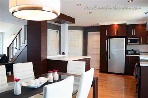 cuisine salon aire ouverte avant après une aire ouverte transformée martine