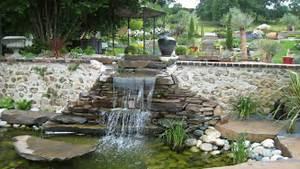 Jardin Avec Bassin : cascade et bassin naturel contemporain jardin par adh paysages ~ Melissatoandfro.com Idées de Décoration
